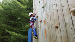 The Rock Climbing Wall At Camp Celiac