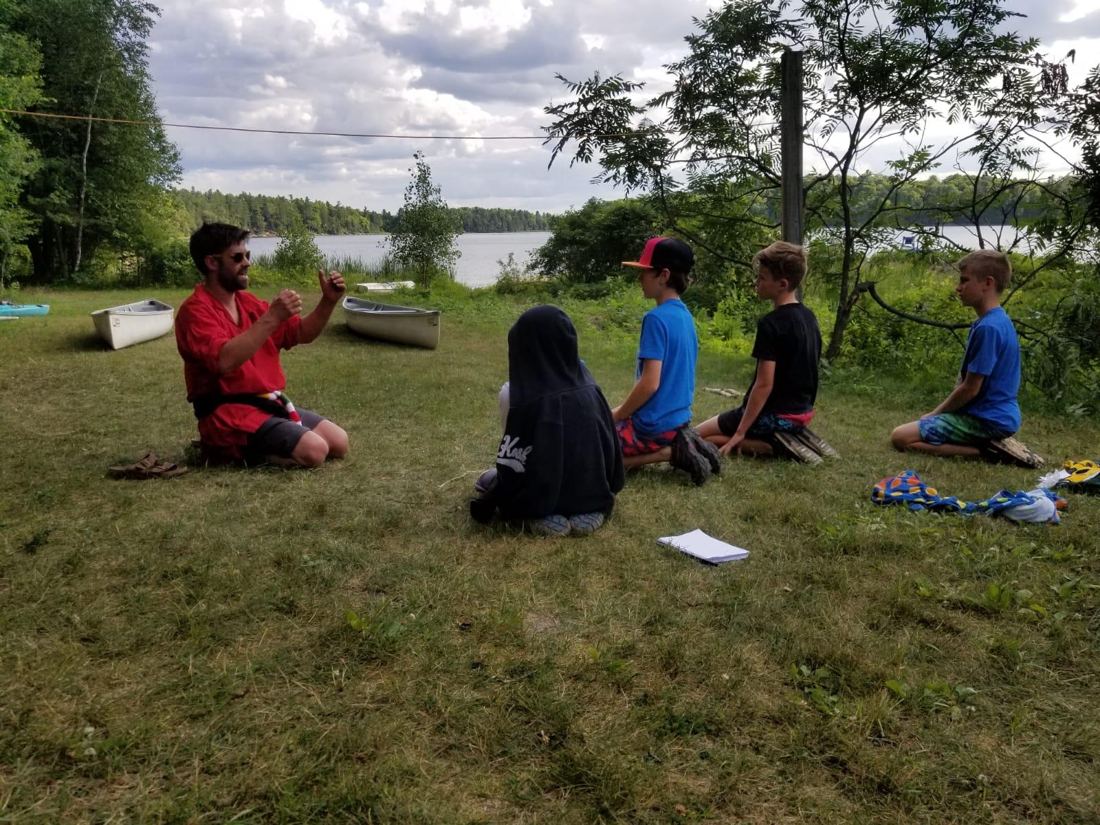 Canoe Instruction at Camp Celiac