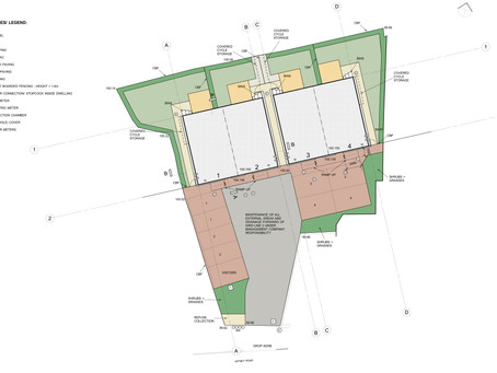 Groundworks commences for 4 new houses in Long Hanborough