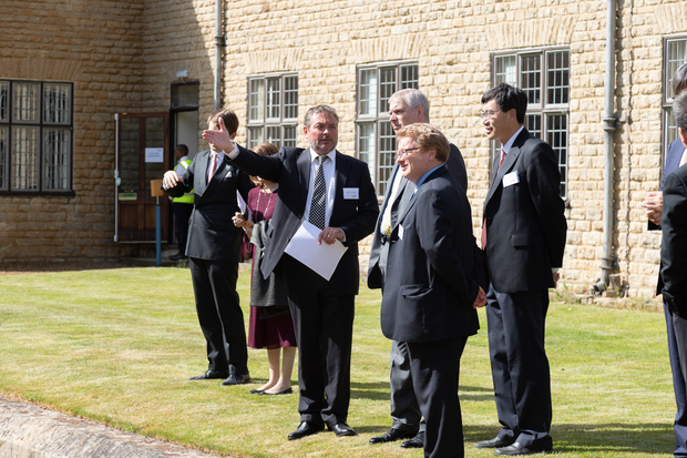 HRH The Duke of York learns of the cross axis