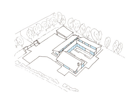 Contemporary single storey dwelling submitted for planning