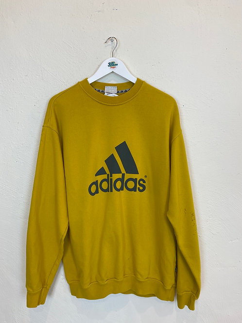 Yellow Adidas Crew Neck (L)