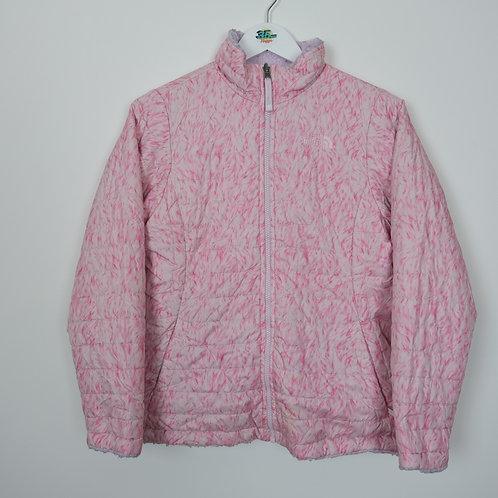 TNF Reversible Pink Floral Fleece / Jacket (Women's Small)