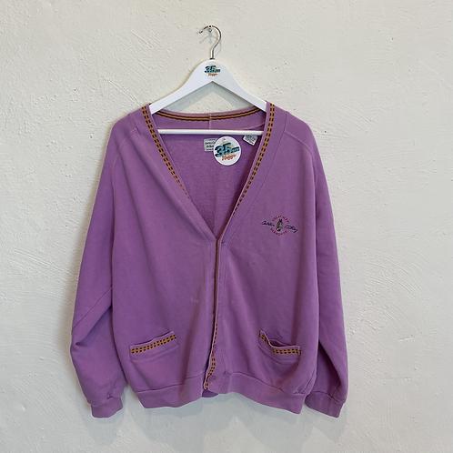 Purple Horsey Cardigan (M)