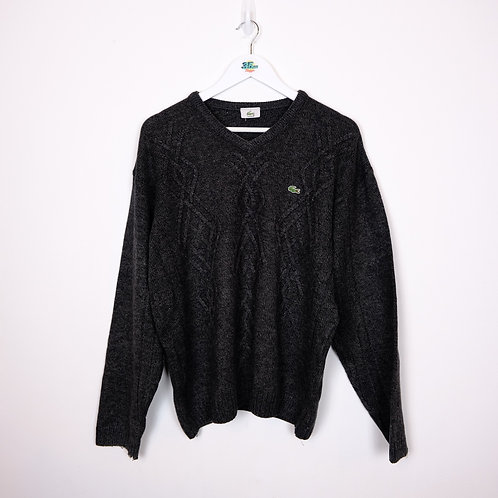 Lacoste V-Neck Cable Knit Sweater (L)