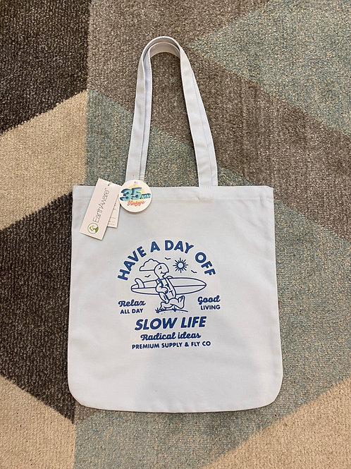 Have a Day Off Tote (Blue)