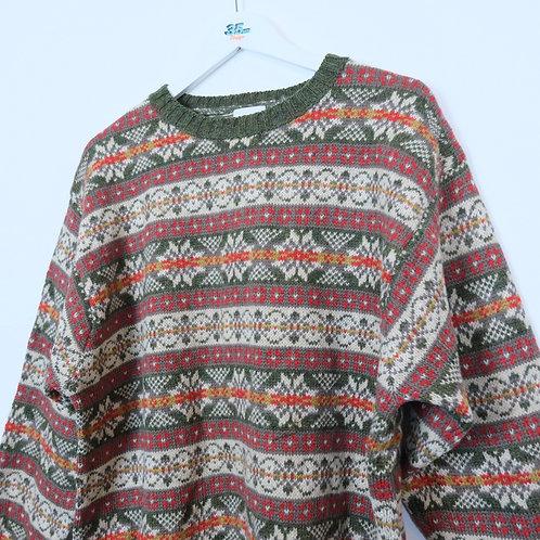 Vintage Shetland Wool Jumper (L)