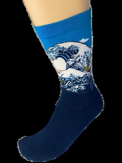 Japanese Waves Socks
