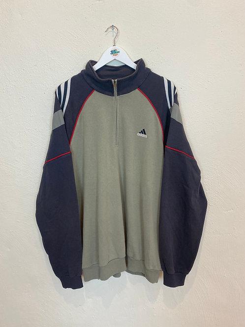 Vintage Adidas Q Zip Sweater (XL)