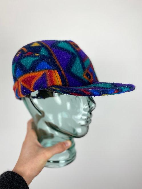 Vintage Crazy Print Fleece Cap