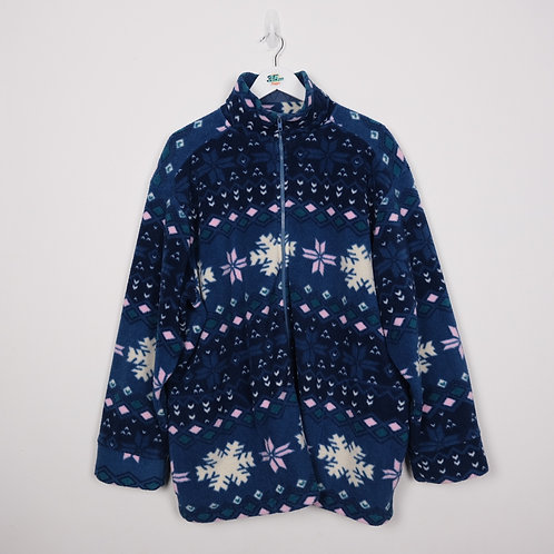 Vintage Snowflake Fleece (XL)