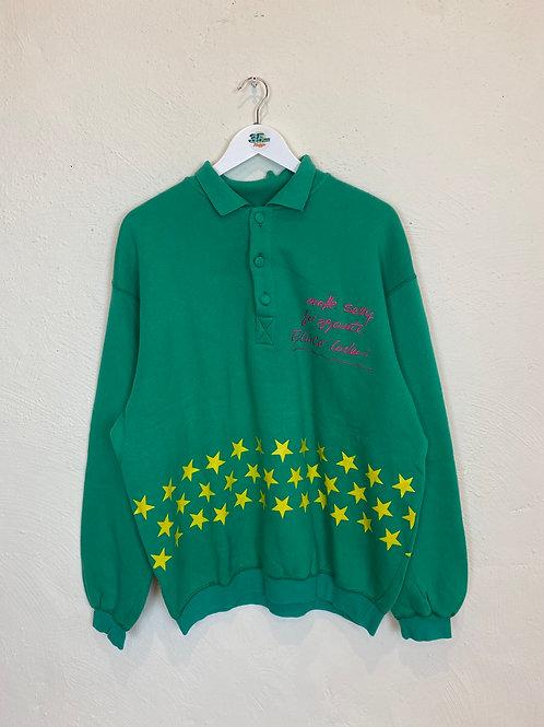 Green Polo Jumper (L)