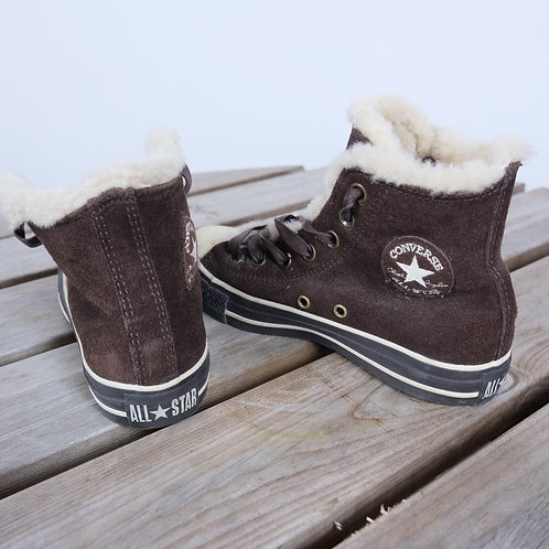 Fluffy Converse High Tops (UK 4)