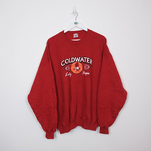 Vintage Coldwater Lady Hoops Sweater (XXL)