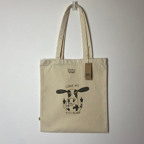 Leave My Tits Alone Organic Tote Bag
