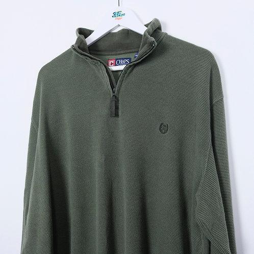Vintage Chaps 1/4 Zip Sweater (XXL)