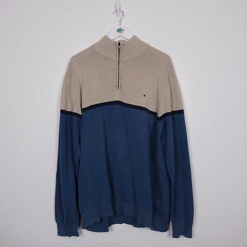 Vintage Tommy Hilfiger 1/4 Zip Sweater (XXL)