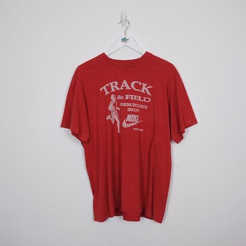 Track Red Nike Tee (L)