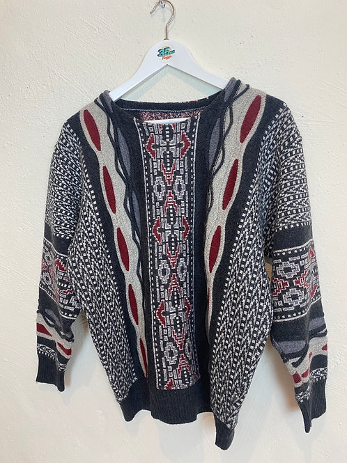 Vintage Patterned Sweater (M)