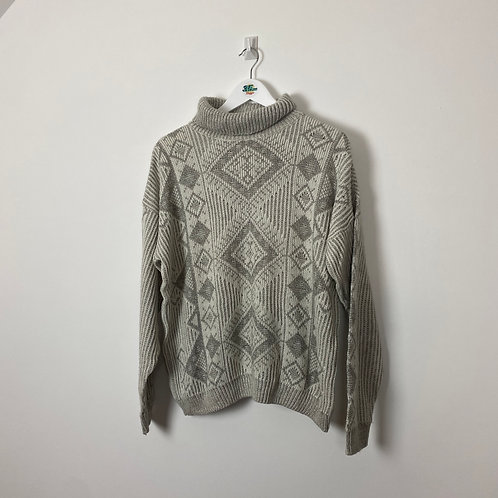 Vintage Turtle Neck Jumper (Ladies Large)