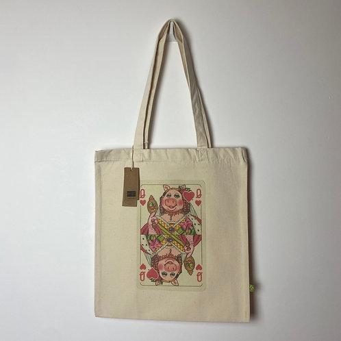 Queen Piggy Organic Tote Bag