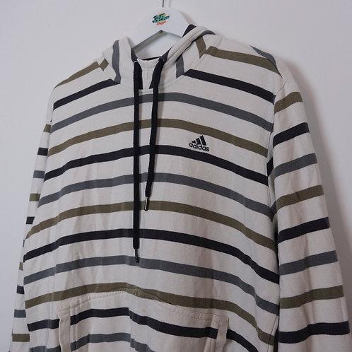 Adidas Striped Hoodie (L Men's)