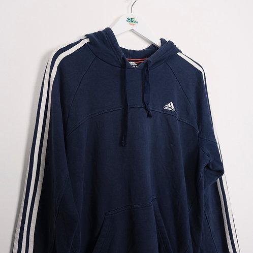 Striped Hood Adidas Hoodie (L)