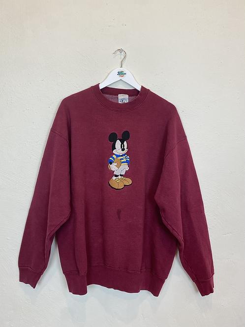 90's Rare Mickey Mouse NFL Sweatshirt (XL)