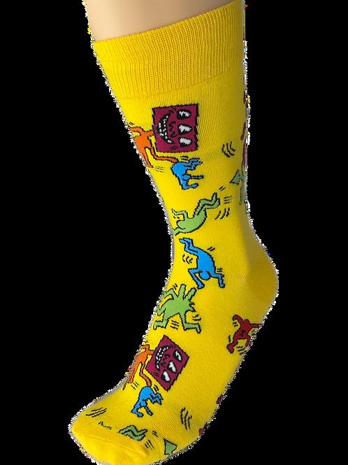 Yellow Groovy Groover Socks
