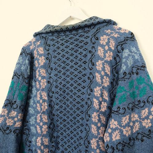 Vintage Pure Wool Cardigan (M)
