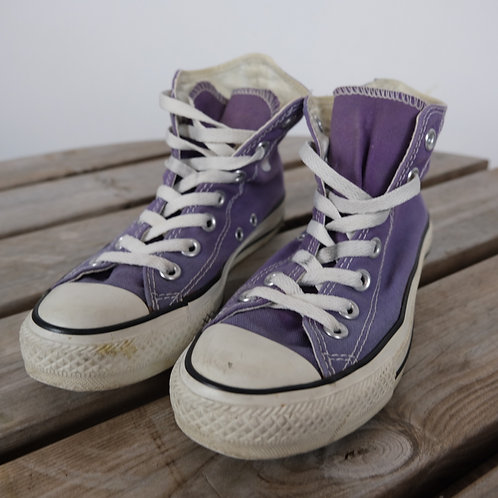Purple Converse High Tops (UK 5.5)