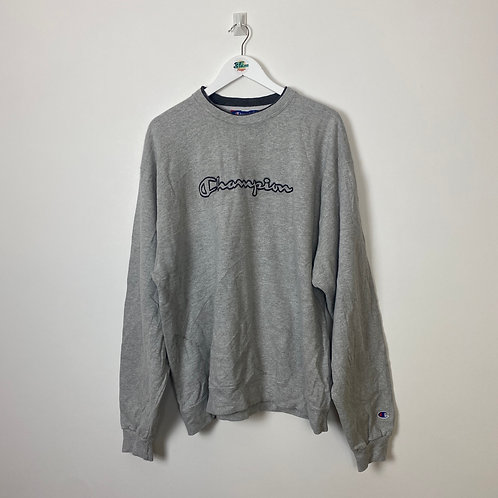 Vintage Champion Spell Out Sweater (Men's XL)