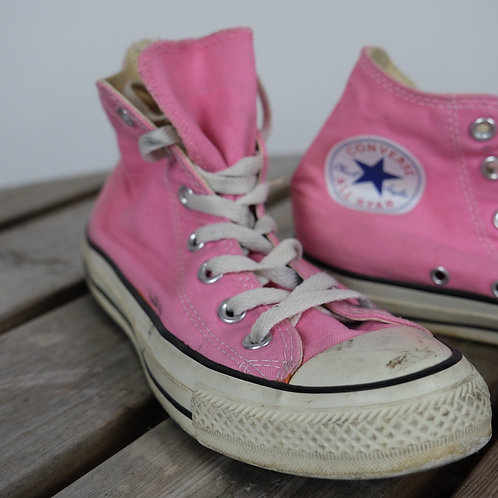 Pink Converse High Tops  (UK 5)