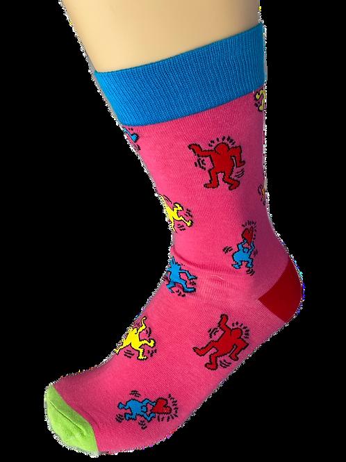 Pink Groovy Groover Socks