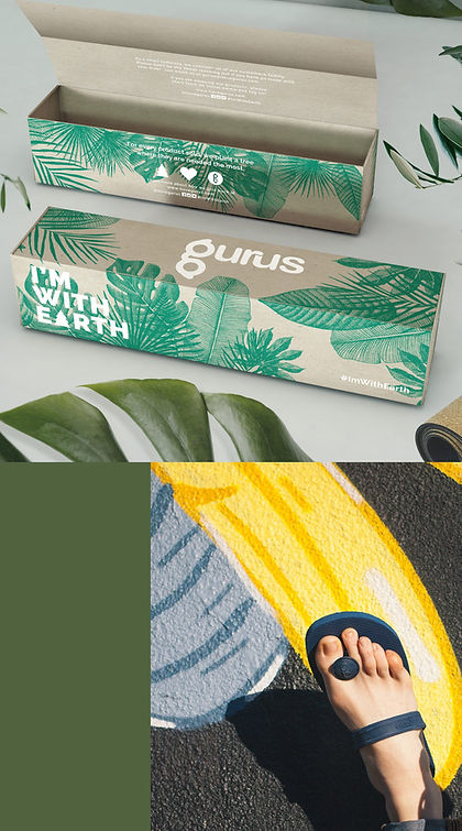 Yoga mat box packaging