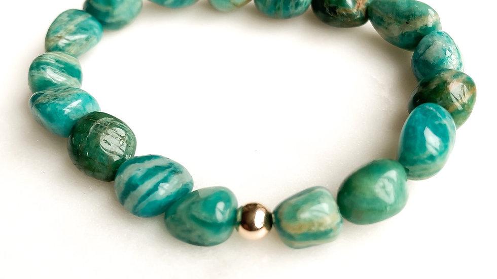 Amazonite 360 Gemstone Bracelet