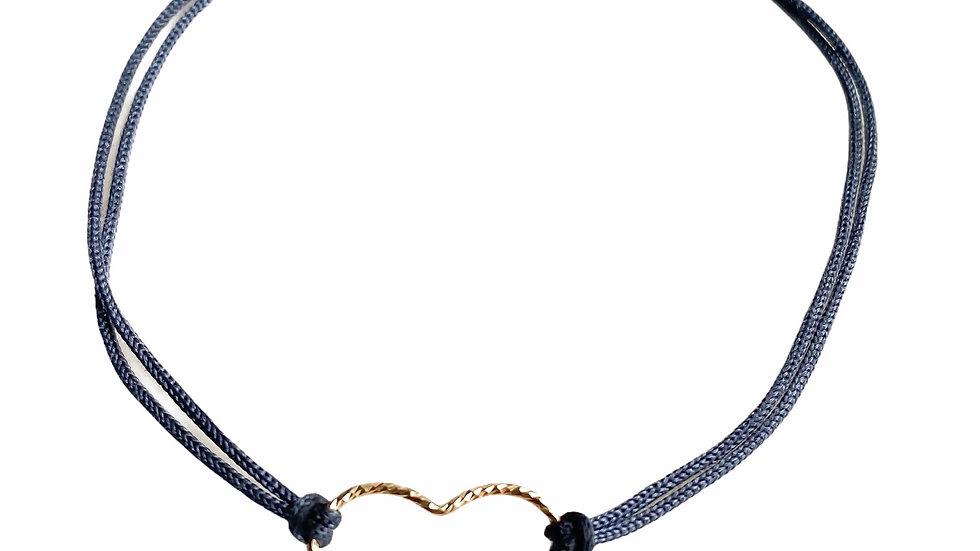 14k gold filled sparkle heart bracelet
