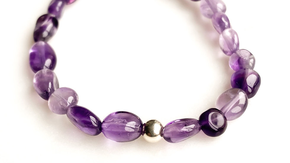 Amethyst 360 Gemstone Bracelet