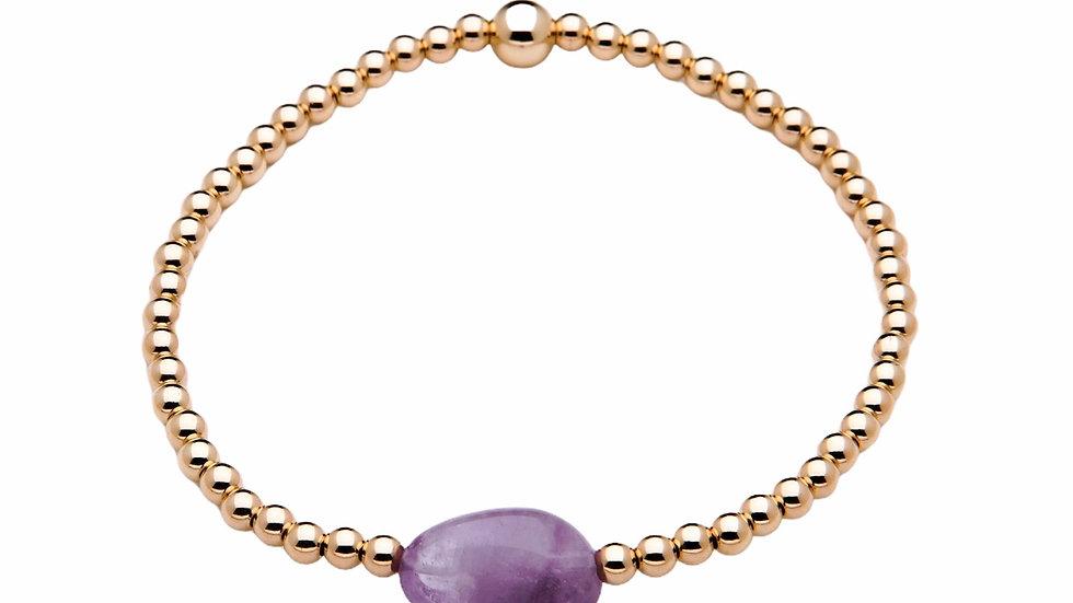 Mauve Jade Gemstone Bracelet