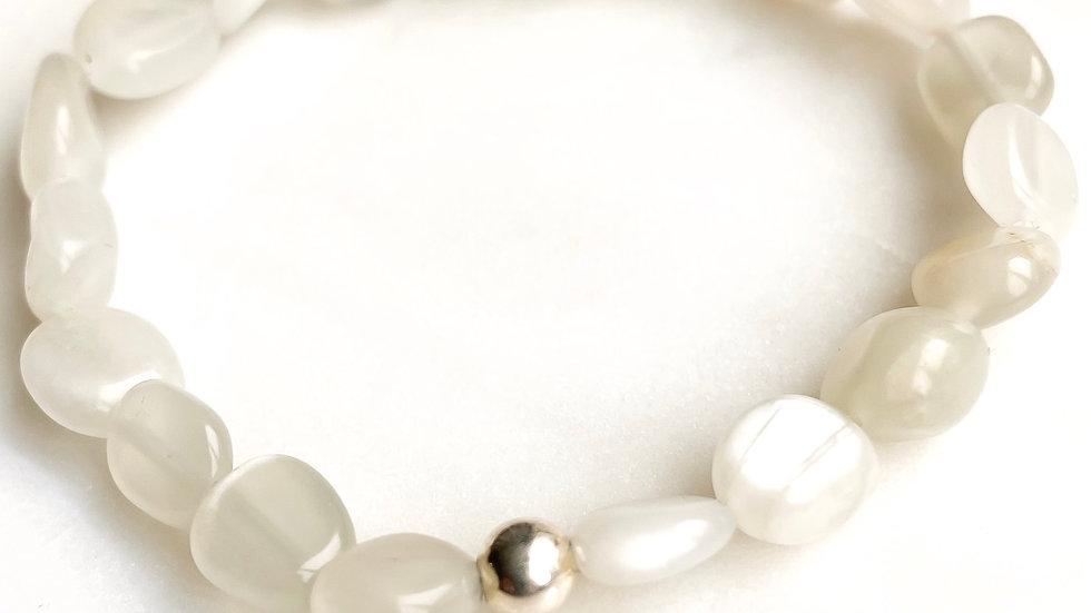 Moonstone 360 Gemstone Bracelet