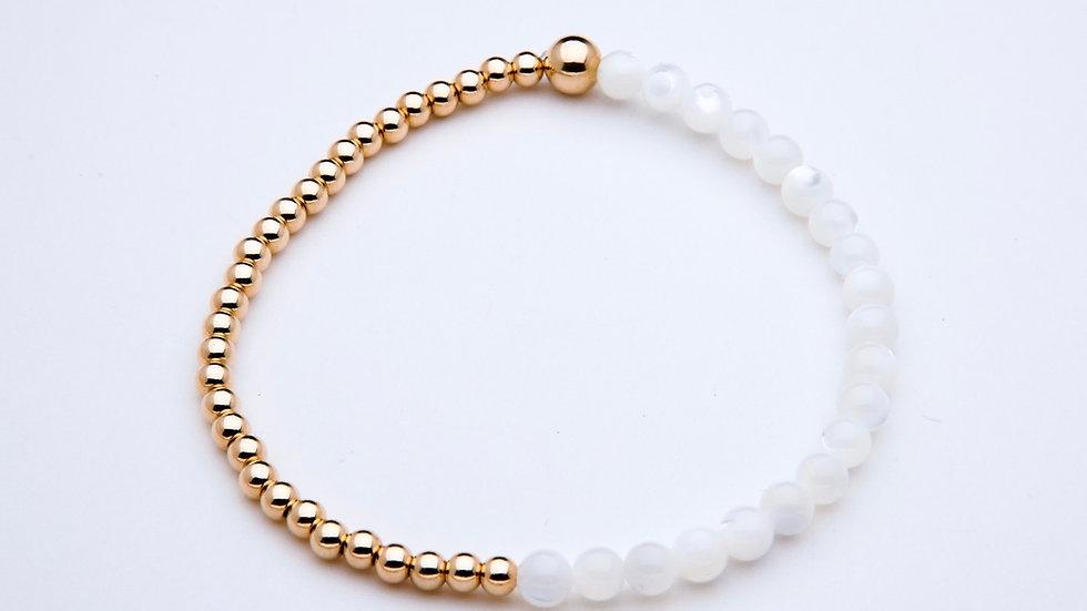 Mother of Pearl Gemstone Bracelet