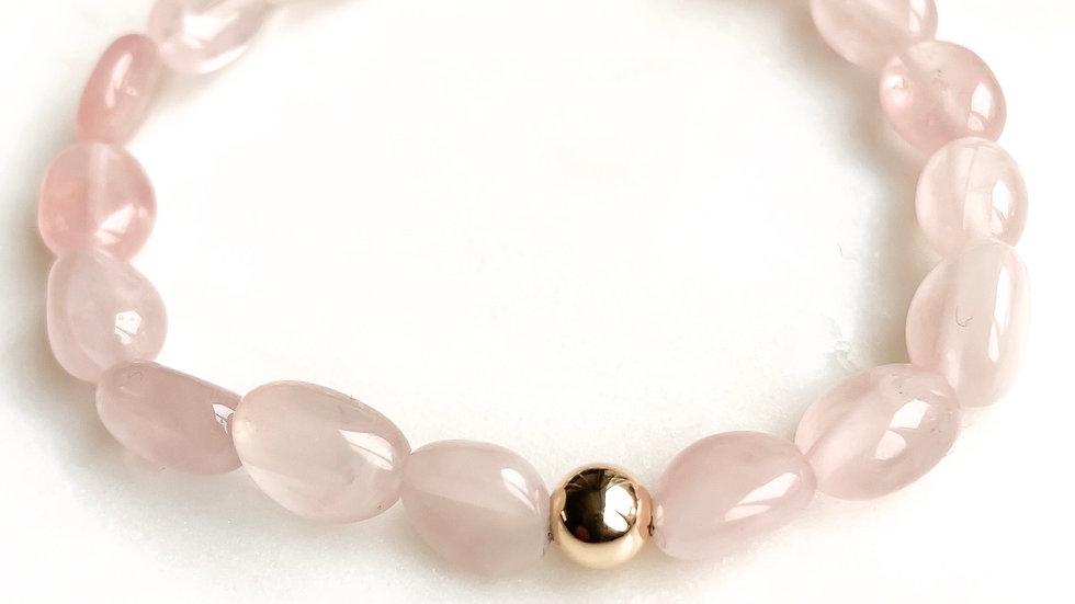 Rose Quartz 360 Gemstone Bracelet