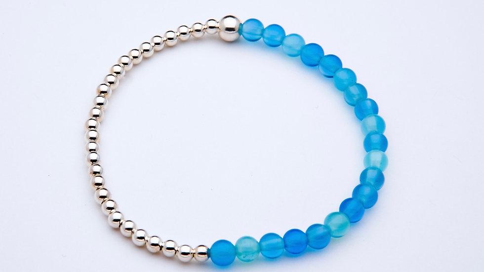 Blue Onyx Gemstone Bracelet