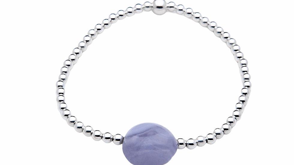 Blue Lace Agate Gemstone Bracelet
