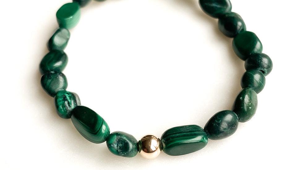 Malachite 360 Gemstone Bracelet