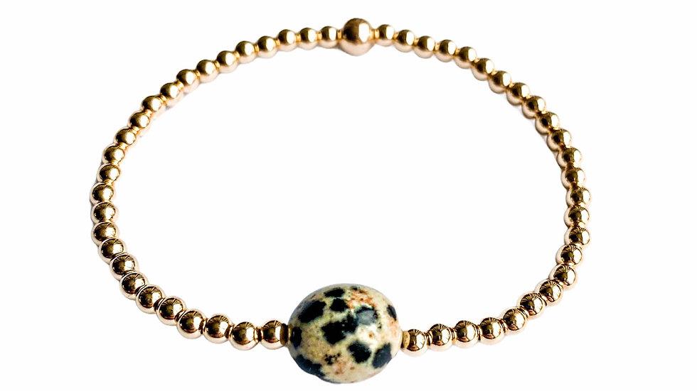 Dalmatian Jasper Gemstone Bracelet
