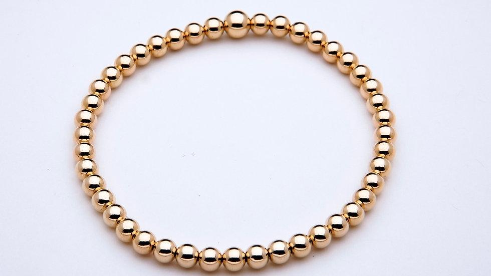 4mm Gold Filled Stacking Bracelet