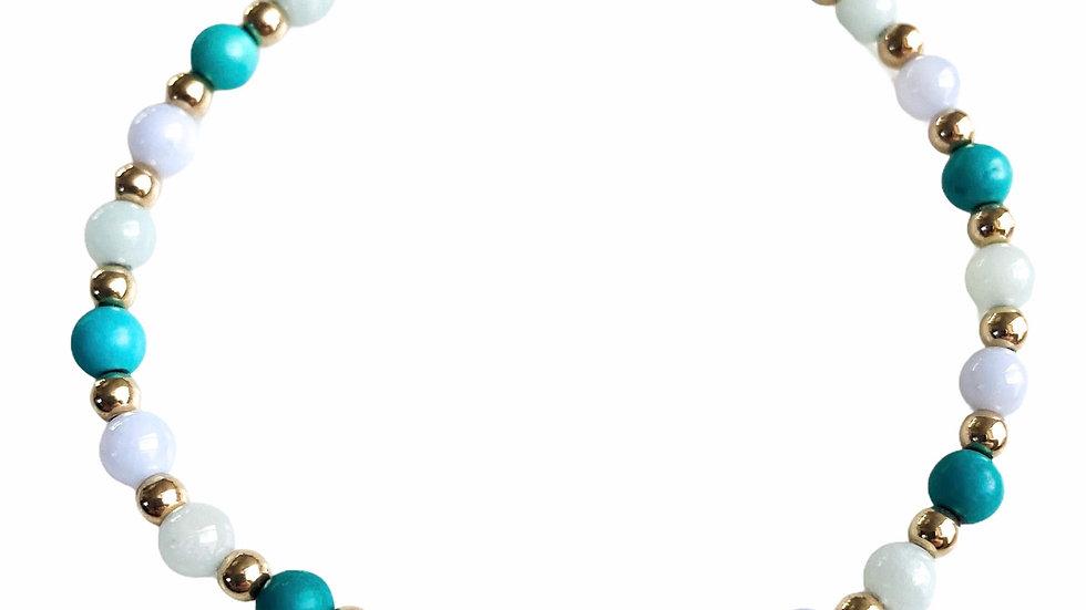 Gold Filled Rainbow Gemstone Bracelet