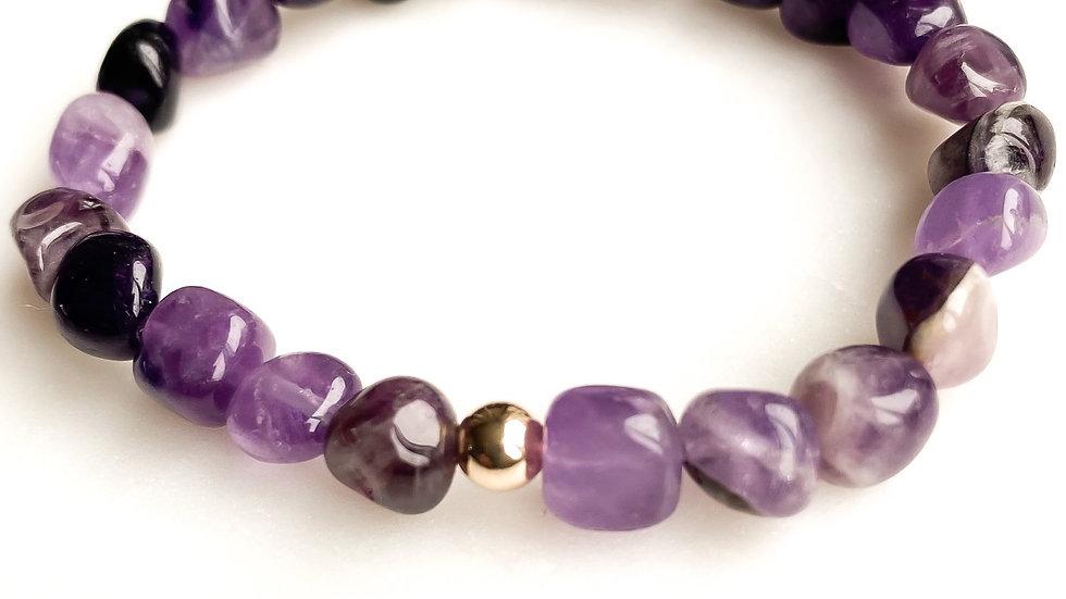 Dark Mauve Jade 360 Gemstone Bracelet