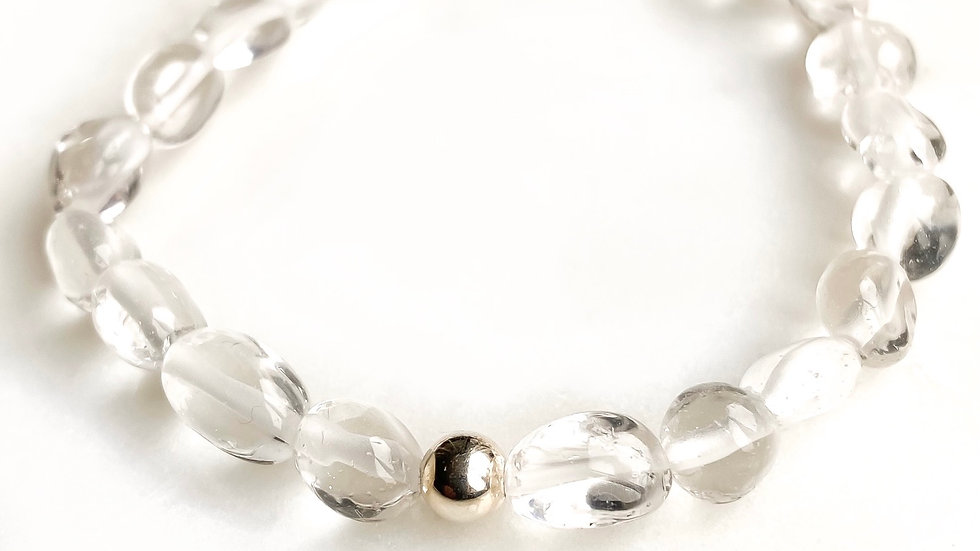 Clear Quartz 360 Gemstone Bracelet
